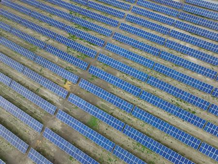 Energía solar renovable, paisaje industrial