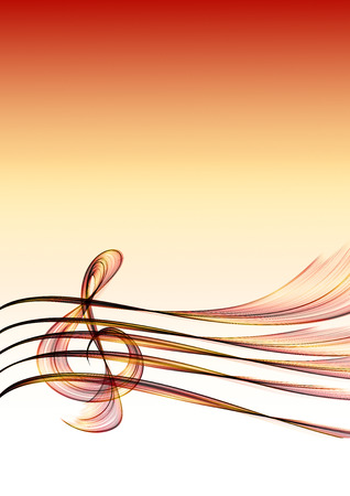 stave: Abstract music background with a clef