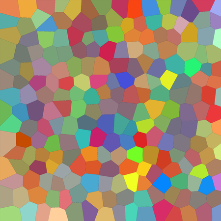 Many polygonal mosaic tiles scattered on the ground Stock Photo