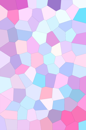 Multicolored mosaic abstract background with big polygonal geometric tiles