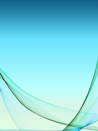 blue flame: Nice abstract background with soft color gradient under flame wave curved shapes Stock Photo