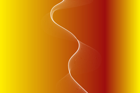 Beuatiful abstract background with smooth gold color gradient and white plame wave curve