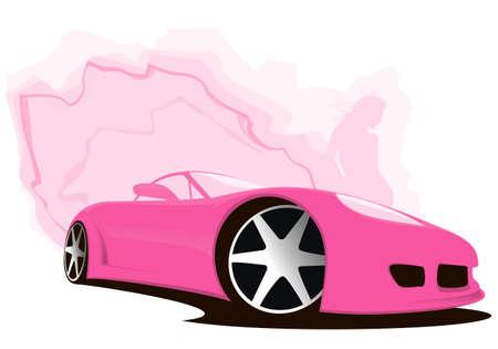 sports girl: Sports Car