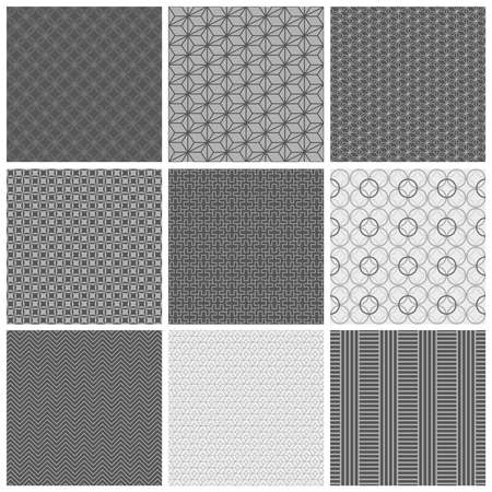 fabric textures: Set of seamless fabric textures. Used for print, pattern, fabric Illustration