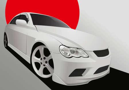 car tuning: Vector illustration of a tuning car in body kit
