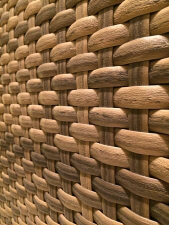 weave: Rattan weaving background  Stock Photo