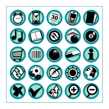 Przydatne Ikony 2 - Wersja 1: Zbiór 25 różnych ikon przydatne # 2 - Wersja 1. Proszę sprawdzić inne wersje i zbiorów. Zdjęcie Seryjne