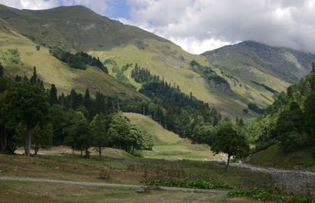 weber: mountains in abkhazia near the place avadhara