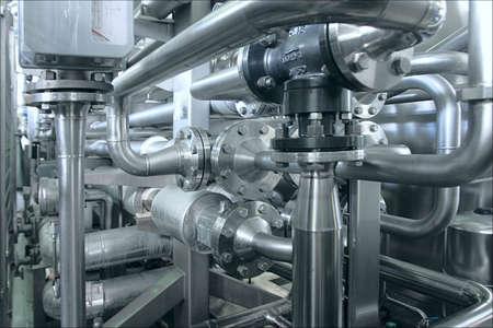 Modern juice factory - process of sterilization