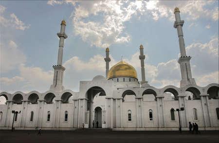 New Mosque in Astana capital of Kazakhstan photo