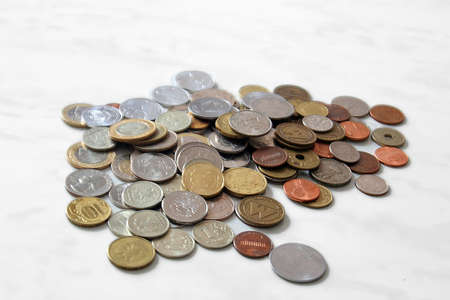 A handful of coins Stock Photo - 17728800