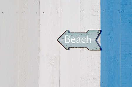 Beach Sign Standard-Bild