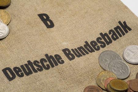 Deutsche Bundesbank - Old German Currency with moneybag