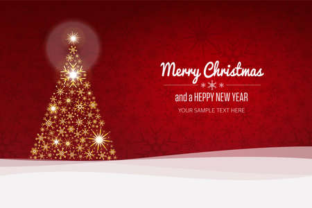 merry christmas: Christmas Tree background and happy new year