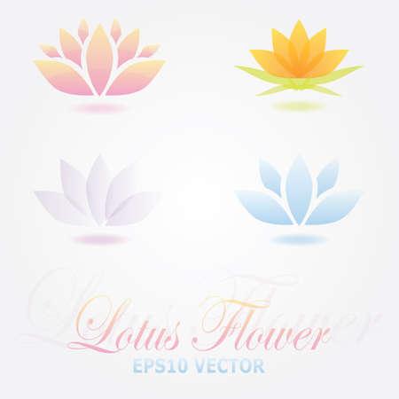 lotus flower: Lotus flower logo spa set Illustration