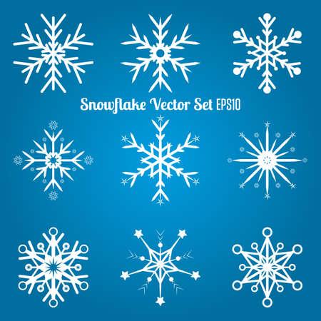 Snowflake Vector set   Winter mood Vector