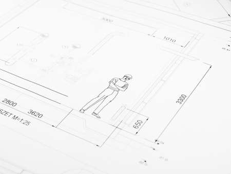 printed technical drawing 8 photo