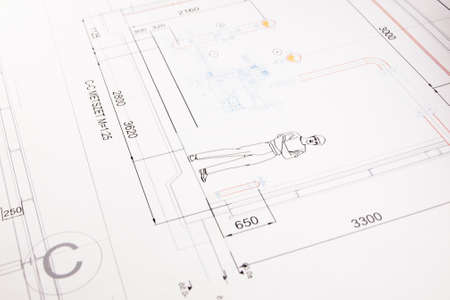 printed technical drawing 6 photo