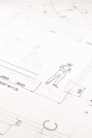 printed technical drawing 7 photo