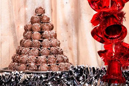 noel chocolat: Chocolat de No�l Banque d'images