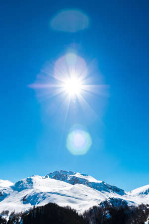 incomparable: Alps sunlight Stock Photo