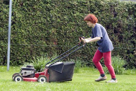 cutting grass Archivio Fotografico