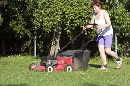 cutting grass Stock Photo - 5170138