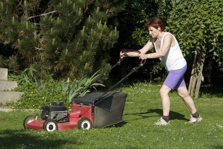 cutting grass photo