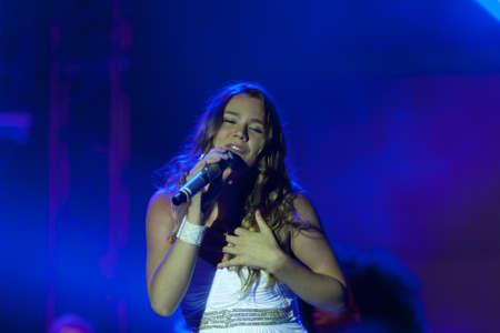 LJUBLJANA, SLOVENIA - SEPTEMBER 4: Pop singer Joss Stone live on Vesolje veselja concert
