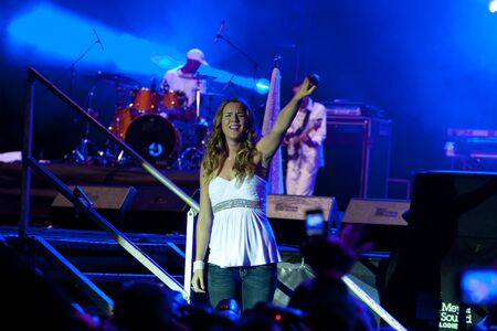 LJUBLJANA, SLOVENIA - SEPTEMBER 4: Pop singer Joss Stone live on Vesolje veselja concert Stock Photo - 13626760