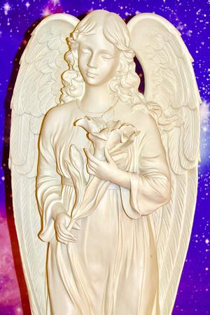 closeup photo of Angel of Divine Peace