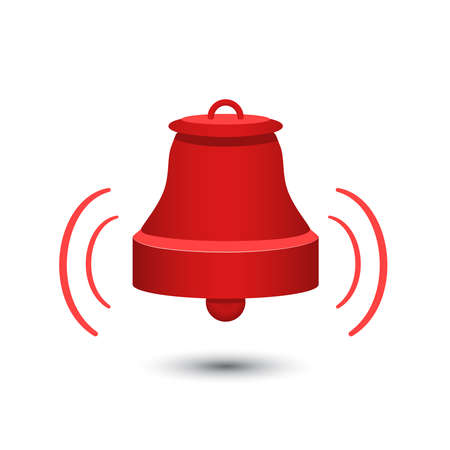 red alarm bell Vector