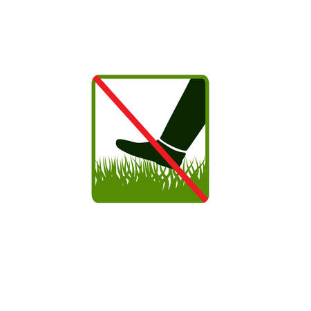 Do not step on grass Vector
