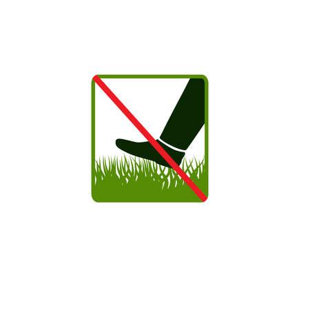 grass plot: Do not step on grass