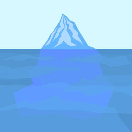 berg: ice berg vector