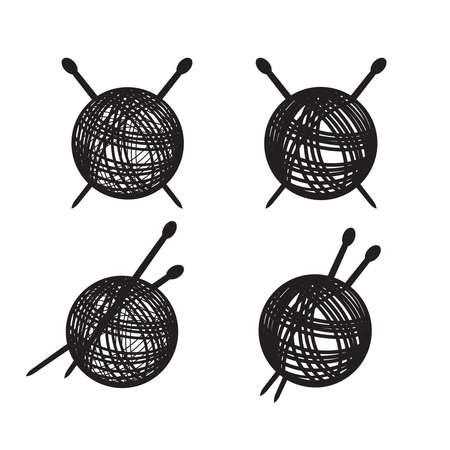 ball of yarn Vector Illustration