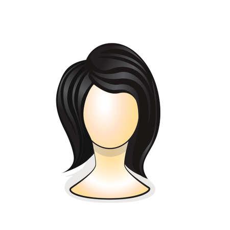 Wig on mannequin head Vector