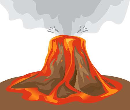 volcano illustration Vector
