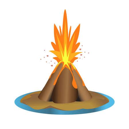 ilustración volcán