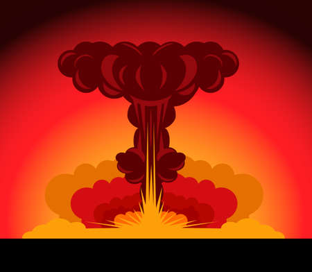 fallout: nuclear explosion Illustration