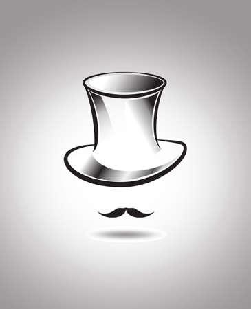 top hat background Vector