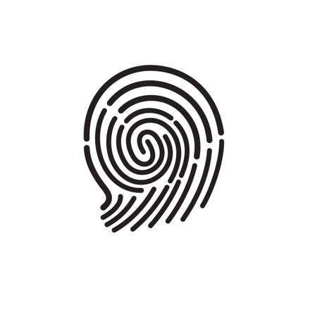 fingertip vector symbol or icon design