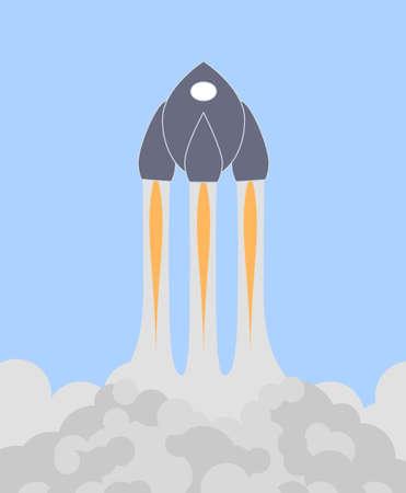 space shuttle or rocket vector illustration illustration