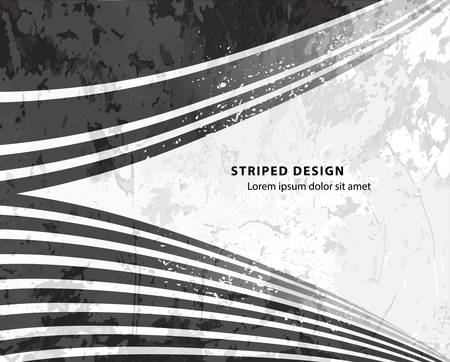 opt: grunge striped design black and white