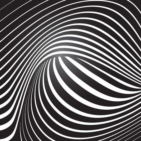 trickery: optical effect vector background template