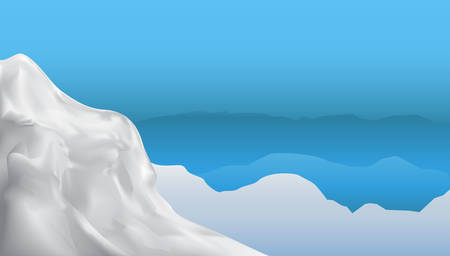 himalayas: winter mountains vector background for design