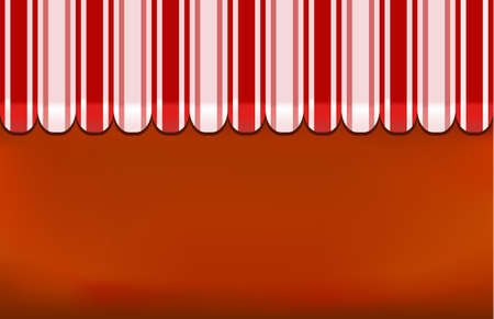 awning shop background on red Vector