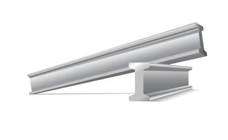 금속의: 금속 건설 벡터 흰색에 고립 된 빔