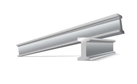 Metalen constructie balken vector geïsoleerd op wit Stockfoto - 33718936