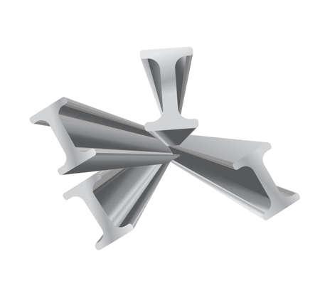 steel beam: construction beam vector 3d object design